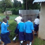 The Water Project: Kamimei Secondary School -  Lining Up At The Latrines