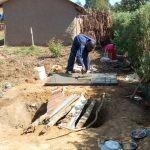 The Water Project: Lukova Community, Wasike Spring -  Sanitation Platform Construction