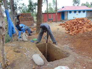 The Water Project:  Sinking A Pit For Latrines
