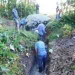 The Water Project: Ngeny Barak Community, Ngeny Barak Spring -  Digging Drainage