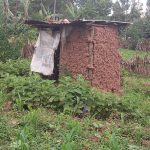 The Water Project: Kisasi Community, Edward Sabwa Spring -  Mud Latrine