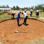 The Water Project: Namasanda Secondary School -  Tank Foundation Construction