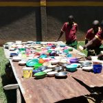 The Water Project: Nanganda Primary School -  Dishes Drying