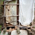 The Water Project: Kisasi Community, Edward Sabwa Spring -  Latrine