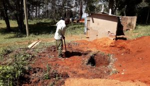 The Water Project:  Digging Pits For The Latrines