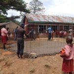 The Water Project: Irobo Primary School -  Mesh That Supports Tank Wall