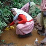 The Water Project: Kakamega Muslim Primary School -  Fetching Water