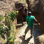 The Water Project: Lukova Community, Wasike Spring -  Excavation