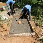 The Water Project: Bukhaywa Community, Asumani Spring -  Sanitation Platform Construction