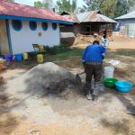 The Water Project: Matungu SDA Special School -  Mixing Cement