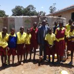 The Water Project: Shibinga Primary School -  Students Who Helped Get Water For Mixing Cement