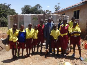 The Water Project:  Students Who Helped Get Water For Mixing Cement