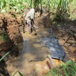 The Water Project: Mukangu Community, Lihungu Spring -  Foundation Construction