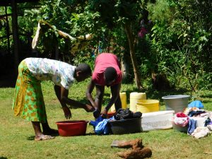 The Water Project:  Using Spring Water To Do Laundry