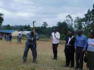 The Water Project:  Minister Of Education Breaking First Ground