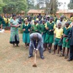 The Water Project: Majengo Primary School -  Breaking First Ground