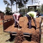 The Water Project: Bojonge Primary School -  Sand Delivering