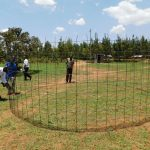 The Water Project: Namasanda Secondary School -  Tank Wire Mesh