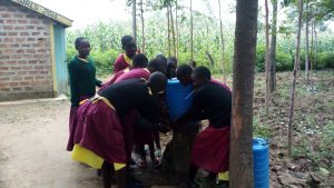 The Water Project:  Crowded Around A Handwashing Station