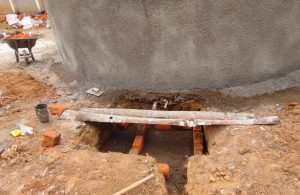 The Water Project:  Drawing Point Under Construction