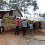 The Water Project: Kegoye Primary School -  Putting Up The Dome Mesh