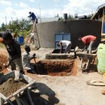 The Water Project: Namasanda Secondary School -  Soak Pit Construction