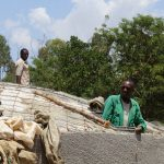 The Water Project: Khabukoshe Primary School -  Tank Dome Construction