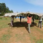 The Water Project: Namasanda Secondary School -  Tank Dome Construction