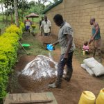 The Water Project: Mukangu Community, Lihungu Spring -  Construction
