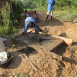 The Water Project: Mukangu Community, Lihungu Spring -  Sanitation Platform Construction