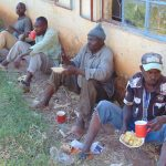 The Water Project: Bojonge Primary School -  Artisans Taking A Lunch Break