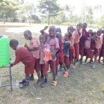The Water Project: Irobo Primary School -  Handwashing Station