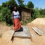 The Water Project: Mukangu Community, Lihungu Spring -  Sanitation Platform