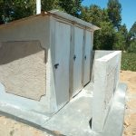 The Water Project: Musango Mixed Secondary School -  Finished Latrines