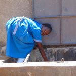 The Water Project: Kegoye Primary School -  Water Flowing At The Tank