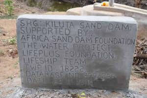 The Water Project:  Plaque Dedication