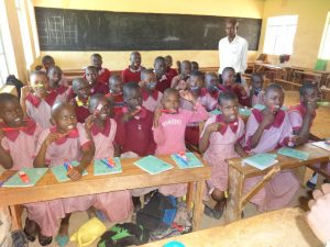 The Water Project:  Students With New Toothbrushes And Toothpaste