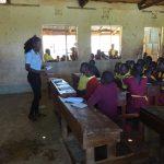 The Water Project: Shibinga Primary School -  Students Peeking Through The Windows During Training