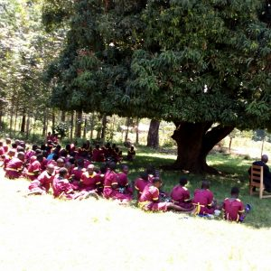 The Water Project:  Pupils Eating Lunch Under A Mango Tree