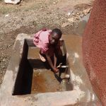 The Water Project: Irobo Primary School -  Flowing Water