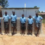 The Water Project: Namakoye Primary School -  Finished Latrines