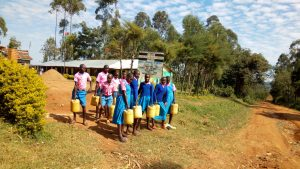 The Water Project:  Students Leaving To Get More Water