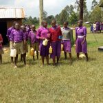 The Water Project: Chiliva Primary School -  Students With Their Water Containers