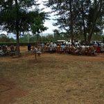 The Water Project: Kimangeti Girls' Secondary School -  Students Gathered Outside