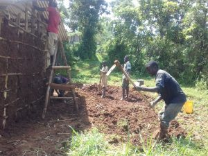 The Water Project:  Working On A Mud Home