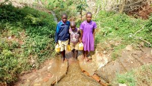 The Water Project:  Students At The Spring
