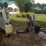 The Water Project: Kimangeti Girls' Secondary School -  Dug Well With Hatch