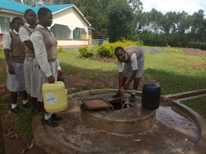The Water Project:  Dug Well With Hatch