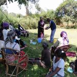 The Water Project: Rosterman Community, Kidiga Spring -  Handwashing Training