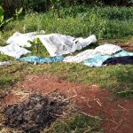 The Water Project: Jivuye Community, Wasiva Spring -  Clothes Drying On Ground